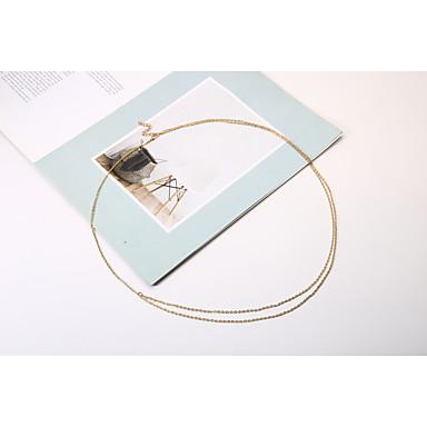 Göbek Zinciri / Vücut Zinciri / Belly Chain Püskül, Avrupa, Çift katman Kadın's Altın / Gümüş Vücut Mücevheri Uyumluluk Yılbaşı Hediyeleri / Günlük / Kumsal