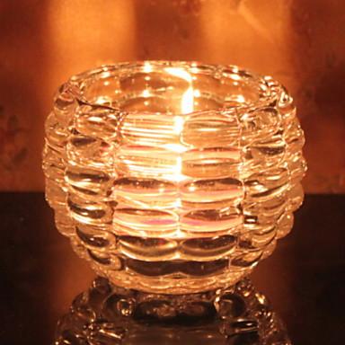 الطراز الأوروبي زجاج Candle Holders الشمعدانات 1PC, شمعة / حامل شمعة