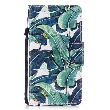 voordelige Galaxy J-serie hoesjes / covers-hoesje Voor Samsung Galaxy J3 (2017) Portemonnee / Kaarthouder / Flip Volledig hoesje Boom Hard PU-nahka