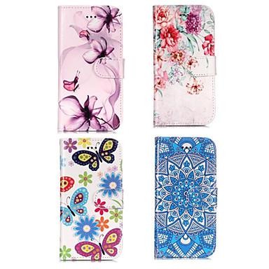 غطاء من أجل Samsung Galaxy S9 / S9 Plus / S8 محفظة / حامل البطاقات / مع حامل غطاء كامل للجسم زهور قاسي جلد PU