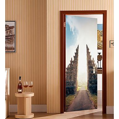 ملصقات الباب - لواصق تجريدي / مناظر طبيعية غرفة الجلوس / غرفة النوم