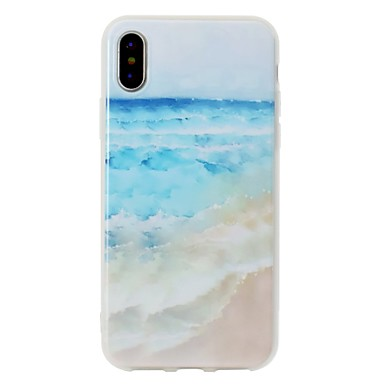 Per iPhone Plus Custodia Apple per IMD Paesaggi iPhone iPhone Per Fantasia disegno iPhone 8 06787777 retro Plus 8 iPhone 8 X X TPU Morbido qIvRq