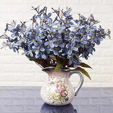 زهور اصطناعية 1 فرع كلاسيكي أنيق الأوركيد / السحلبية أزهار الطاولة