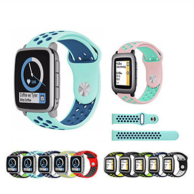 voordelige Smartwatch-accessoires-Horlogeband voor Pebble Time / Pebble Time Steel / Pebble Time 2 Pebble Sportband Silicone Polsband