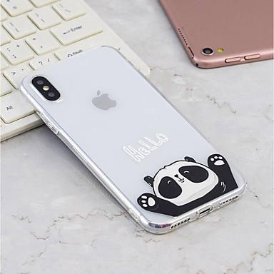 voordelige iPhone X hoesjes-hoesje Voor Apple iPhone X / iPhone 8 Plus / iPhone 8 Patroon Achterkant Panda Zacht TPU