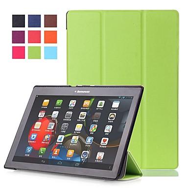 غطاء من أجل Lenovo Lenovo Tab 2 A10-70 / Lenovo Tab 2 X30F / M / Lenovo Tab 2 A10-30F / L (TB2-X30) مع حامل / مغناطيس غطاء كامل للجسم لون سادة قاسي جلد PU