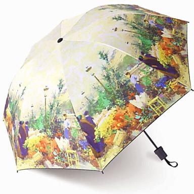 البوليستر / ستانلس ستيل نسائي / الجميع إبداعي / تصميم جديد مظلة ملطية