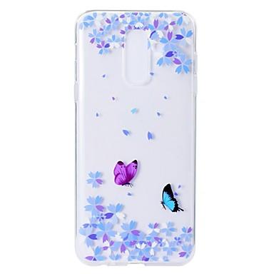غطاء من أجل Samsung Galaxy A5(2018) / A6 (2018) / A6+ (2018) نموذج غطاء خلفي فراشة / زهور ناعم TPU