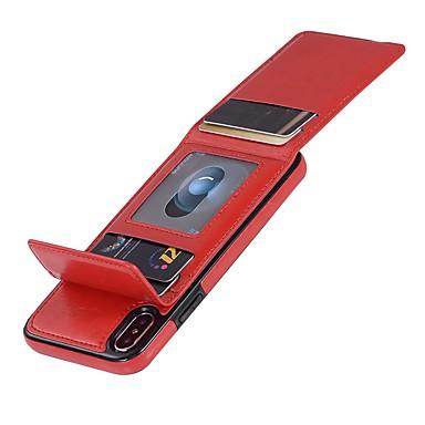 iPhone Resistente Integrale XR iPhone iPhone XS Custodia Tinta portafoglio X unita iPhone Per Apple iPhone carte Porta credito Con magnetica sintetica di A chiusura per 06787789 8 iPhone XS pelle qpTFERw