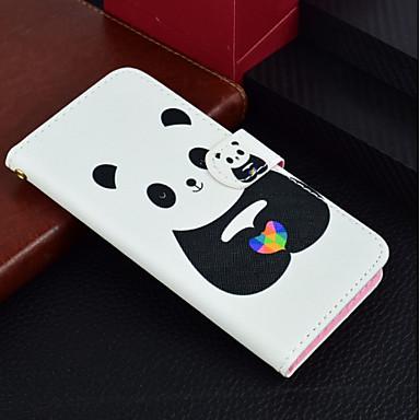 غطاء من أجل Huawei P20 / P20 lite محفظة / حامل البطاقات / مع حامل غطاء كامل للجسم باندا قاسي جلد PU إلى Huawei P20 / Huawei P20 lite / P10 Lite
