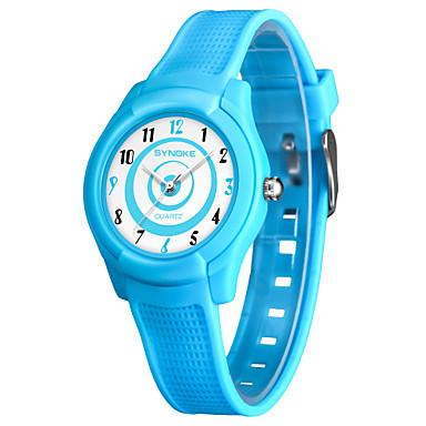 SYNOKE رجالي نسائي ساعة رياضية ساعة رقمية ياباني كوارتز ياباني جلد اصطناعي أسود / الأبيض / أزرق 50 m مقاوم للماء جميل مماثل رقمي موضة - أسود أزرق زهري
