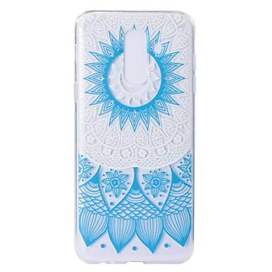 غطاء من أجل Samsung Galaxy A5(2018) / A6 (2018) / A6+ (2018) نموذج غطاء خلفي الطباعة الدانتيل ناعم TPU