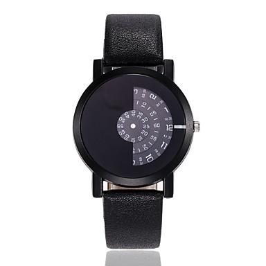 رجالي نسائي ساعة فستان ساعة المعصم كوارتز أسود / الأبيض / أزرق تصميم جديد ساعة كاجوال مماثل كلاسيكي كاجوال موضة - أحمر أزرق أسود / أبيض سنة واحدة عمر البطارية
