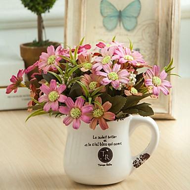 زهور اصطناعية 1 فرع كلاسيكي فردي أنيق النمط الرعوي أقحوان أزهار الطاولة