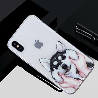 voordelige iPhone 5 hoesjes-hoesje Voor Apple iPhone X / iPhone 8 Plus / iPhone 8 Patroon Achterkant Hond Zacht TPU