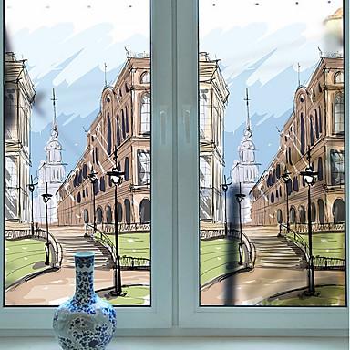 فيلم نافذة وملصقات زخرفة فني / ريترو 3D طباعة PVC إبداعي