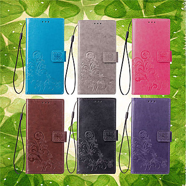 voordelige Hoesjes / covers voor Sony-hoesje Voor Sony Xperia XZ2 / Xperia XA2 / Xperia L2 Portemonnee / Kaarthouder / met standaard Volledig hoesje Mandala / Vlinder Hard PU-nahka