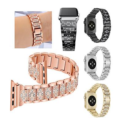 Недорогие Ремешки для Apple Watch-Ремешок для часов для Fitbit Blaze / Apple Watch Series 4/3/2/1 Apple Спортивный ремешок Нержавеющая сталь Повязка на запястье