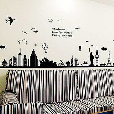 لواصق حائط مزخرفة - لواصق حائط الطائرة ريفي / أشكال داخلي