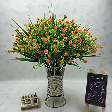 زهور اصطناعية 1 فرع كلاسيكي الحديث نباتات أزهار الطاولة