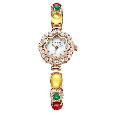 a1334ed4d560 abordables Relojes de Mujer-MEGIR Mujer Reloj de Vestir Reloj de Pulsera  Reloj de diamantes