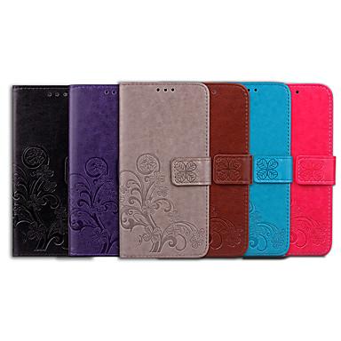 غطاء من أجل Samsung Galaxy S9 Plus حامل البطاقات / قلب غطاء كامل للجسم لون سادة / ماندالا نمط ناعم جلد PU
