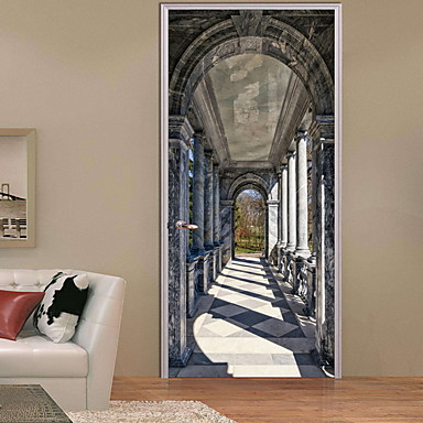 ملصقات الباب - لواصق 3D داخلي