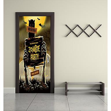ملصقات الباب - لواصق / عطلة ملصقات الحائط حيوانات / Halloween داخلي / غرفة الأطفال