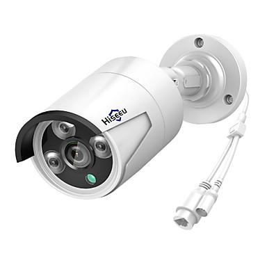 hiseeu® h.265 sicherheit ip-kamera poe 4mp im freien wasserdichte ip66-cctv-kamera p2p videoüberwachung home security onvif 48v