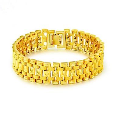 economico Bracciali Uomo-Per uomo Bracciali a catena e maglie Alla moda Creativo Di tendenza Dubai Oro 18k Gioielli braccialetto Oro Per Feste Quotidiano