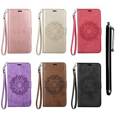 غطاء من أجل Sony Sony Xperia XA / Sony Xperia X محفظة / حامل البطاقات / مع حامل غطاء كامل للجسم ماندالا نمط قاسي جلد PU