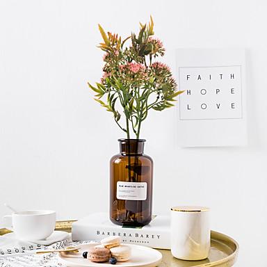 زهور اصطناعية 1 فرع كلاسيكي زهري أسلوب بسيط نباتات أزهار الطاولة