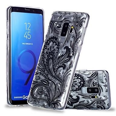voordelige Galaxy S-serie hoesjes / covers-hoesje Voor Samsung Galaxy S9 / S9 Plus / S8 Plus Transparant / Patroon Achterkant Lace Printing / Veren Zacht TPU