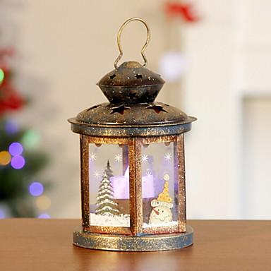 أضواء ديكور عطلة البلاستيك والمعادن شكل منزل زينة عيد الميلاد