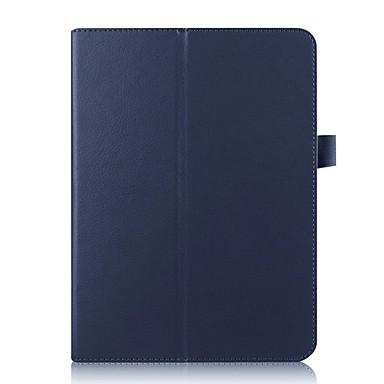 voordelige Samsung Tab-serie hoesjes / covers-hoesje Voor Samsung Galaxy Tab S2 9.7 met standaard Volledig hoesje Effen Hard PU-nahka