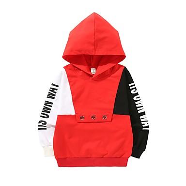 cheap Boys' Clothing-Kids Toddler Boys' Active Daily Print Print Long Sleeve Regular Cotton Hoodie & Sweatshirt Black