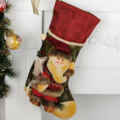 جوارب / عيد الميلاد الحلي إيحائي نسيج القطن مربع حداثة زينة عيد الميلاد