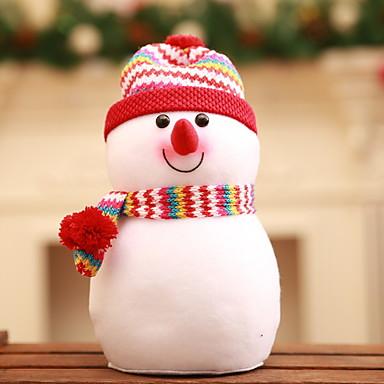 تماثيل الكريسمس / عيد الميلاد الحلي عطلة نسيج القطن مربع حداثة زينة عيد الميلاد