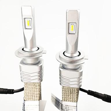 voordelige Autokoplampen-1 set h7 pk26d 45w 6000lm zes led-koplampset 6000k witte kleurlichtheid