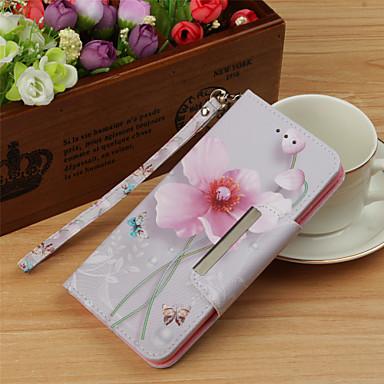 غطاء من أجل Samsung Galaxy S9 / S9 Plus / S8 Plus محفظة / حامل البطاقات / قلب غطاء كامل للجسم زهور قاسي جلد PU