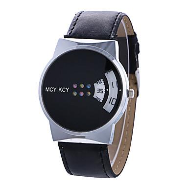 Недорогие Часы на кожаном ремешке-Жен. Модные часы Уникальный творческий часы Кварцевый Кожа Черный / Белый Творчество Цифровой Дамы На каждый день - Белый Черный Один год Срок службы батареи / Tianqiu 377