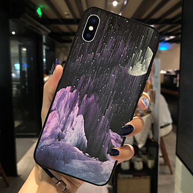 voordelige iPhone 6 hoesjes-hoesje Voor Apple iPhone X / iPhone 8 Plus / iPhone 8 Patroon Achterkant Landschap Zacht TPU