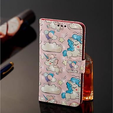 غطاء من أجل Samsung Galaxy J8 / J7 Duo محفظة / حامل البطاقات / مع حامل غطاء كامل للجسم آحادي القرن قاسي جلد PU إلى J8 / J7 Duo / J6