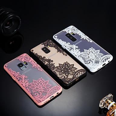 Недорогие Чехлы и кейсы для Galaxy S6 Edge-Кейс для Назначение SSamsung Galaxy S9 / S9 Plus / S8 Plus Матовое / Полупрозрачный / Рельефный Кейс на заднюю панель Кружева Печать Твердый Акрил