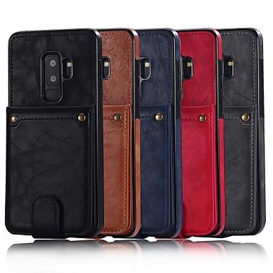غطاء من أجل Samsung Galaxy S9 / S9 Plus / S8 Plus محفظة / حامل البطاقات / مع حامل غطاء خلفي لون سادة قاسي جلد PU