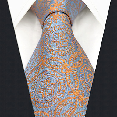 cheap Men's Neckties-Men's Party / Work Necktie - Geometric / Color Block / Jacquard