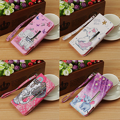 غطاء من أجل Apple iPhone X / iPhone 8 Plus / iPhone 8 محفظة / مع حامل / قلب غطاء كامل للجسم حيوان / فيل قاسي جلد PU
