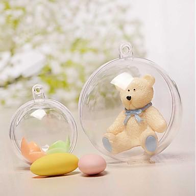 5 قطع 10 سنتيمتر زينة عيد الميلاد الكرة زخرفة شفافة فتح البلاستيك واضحة الحلي هدية زخرفة مربع الحالية