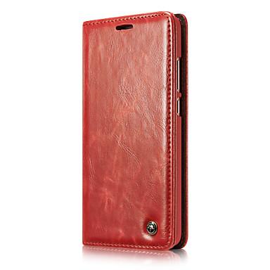 voordelige Huawei Mate hoesjes / covers-CaseMe hoesje Voor Huawei Mate 9 Portemonnee / Kaarthouder / Flip Volledig hoesje Effen Hard PU-nahka voor Mate 9