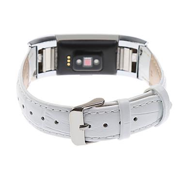 voordelige Smartwatch-accessoires-Horlogeband voor Fitbit Charge 2 Fitbit Leren lus Echt leer Polsband